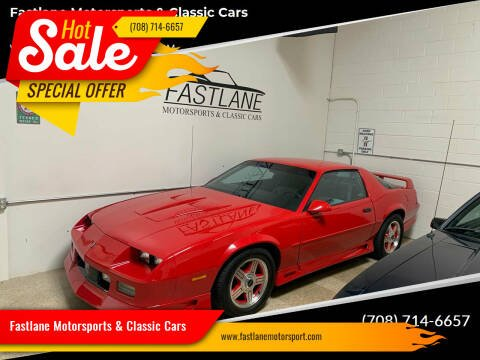 1991 Chevrolet Camaro for sale at Fastlane Motorsports & Classic Cars in Addison IL