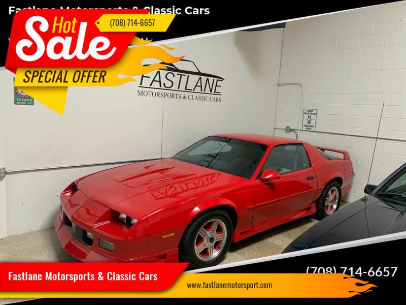 1991 Chevrolet Camaro for sale at Fastlane Motorsports & Classic Cars in Addison IL