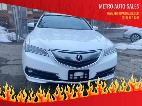2015 Acura TLX for sale at Metro Auto Sales in Lawrence MA