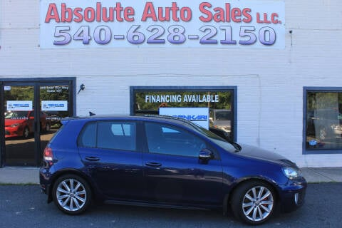2012 Volkswagen GTI for sale at Absolute Auto Sales in Fredericksburg VA