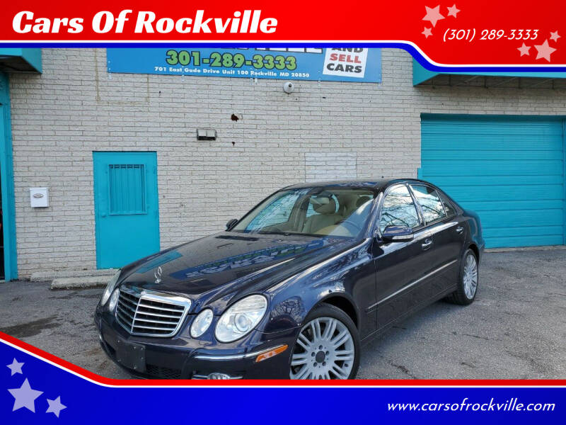 2008 Mercedes-Benz E-Class for sale at Cars Of Rockville in Rockville MD