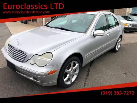 2002 Mercedes-Benz C-Class for sale at Euroclassics LTD in Durham NC