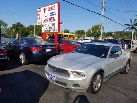 2010 Ford Mustang for sale at 1st Choice Auto Sales in Newport News VA