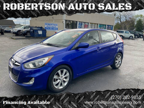 2012 Hyundai Accent for sale at ROBERTSON AUTO SALES in Bowling Green KY