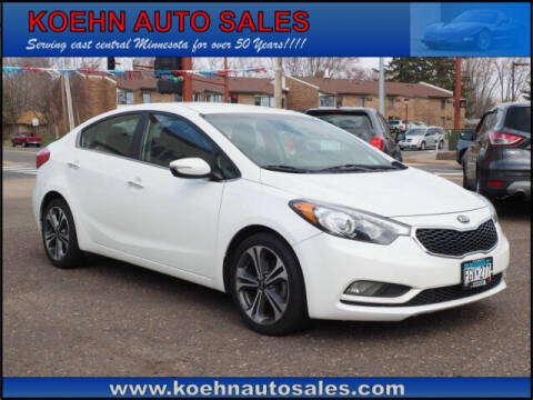 2015 Kia Forte for sale at Koehn Auto Sales in Lindstrom MN