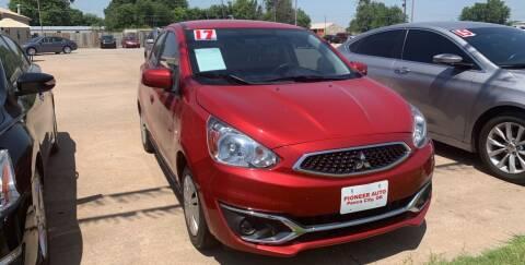 2017 Mitsubishi Mirage for sale at Pioneer Auto in Ponca City OK