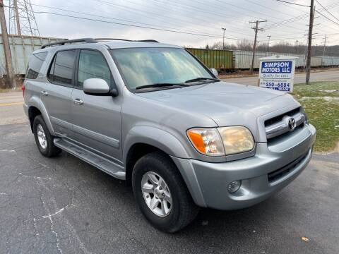 2006 Toyota Sequoia for sale at SIMPSON MOTORS in Youngstown OH