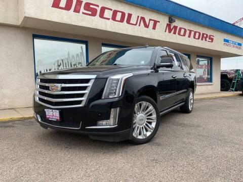 2015 Cadillac Escalade ESV for sale at Discount Motors in Pueblo CO