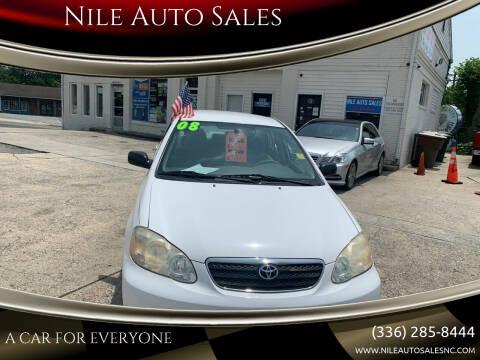 2008 Toyota Corolla for sale at Nile Auto Sales in Greensboro NC