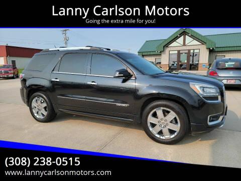 2013 GMC Acadia for sale at Lanny Carlson Motors in Kearney NE