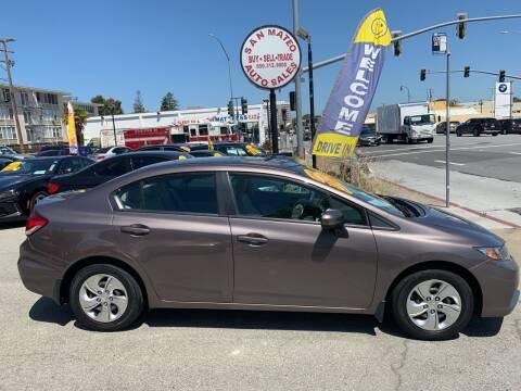 2014 Honda Civic for sale at San Mateo Auto Sales in San Mateo CA