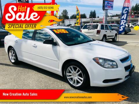2012 Chevrolet Malibu for sale at New Creation Auto Sales in Everett WA