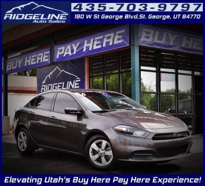2015 Dodge Dart for sale at Ridgeline Auto Sales in Saint George UT