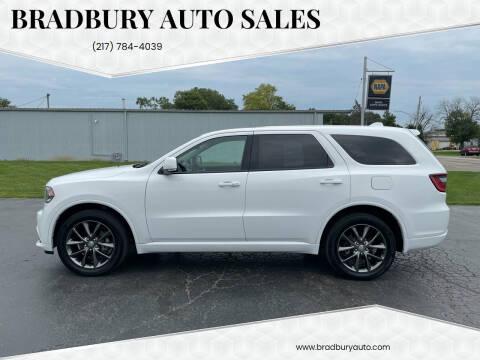 2017 Dodge Durango for sale at BRADBURY AUTO SALES in Gibson City IL
