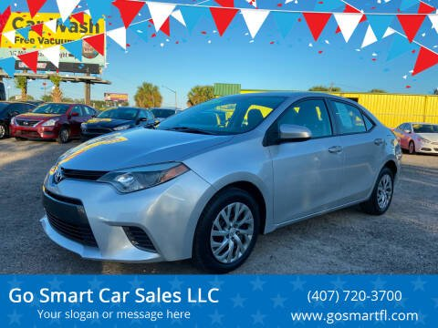 2015 Toyota Corolla for sale at Go Smart Car Sales LLC in Winter Garden FL