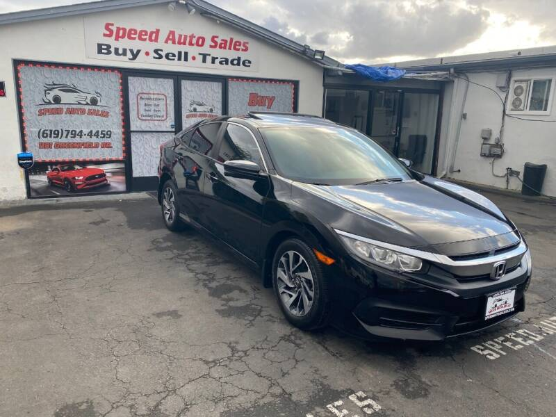 2016 Honda Civic for sale at Speed Auto Sales in El Cajon CA