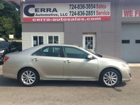 2013 Toyota Camry for sale at Cerra Automotive LLC in Greensburg PA
