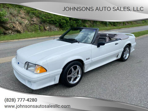 1991 Ford Mustang for sale at Johnsons Auto Sales, LLC in Marshall NC