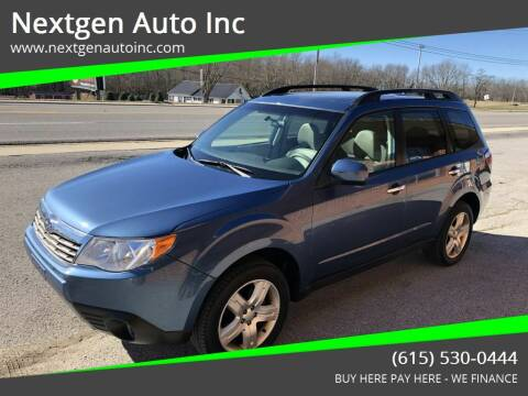 2010 Subaru Forester for sale at Nextgen Auto Inc in Smithville TN