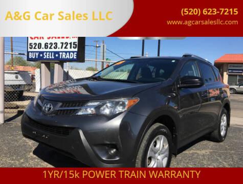 2013 Toyota RAV4 for sale at A&G Car Sales  LLC in Tucson AZ