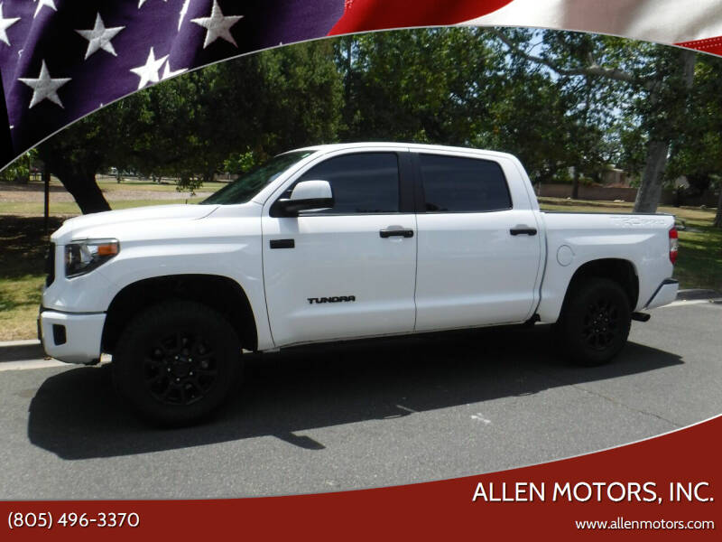 2017 Toyota Tundra for sale at Allen Motors, Inc. in Thousand Oaks CA