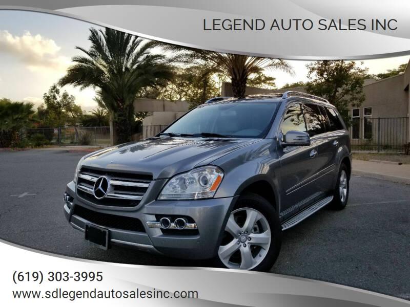2011 Mercedes-Benz GL-Class for sale at Legend Auto Sales Inc in Lemon Grove CA