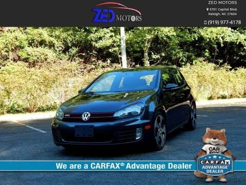 2012 Volkswagen GTI for sale at Zed Motors in Raleigh NC