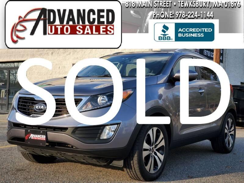 2012 Kia Sportage for sale at Advanced Auto Sales in Tewksbury MA