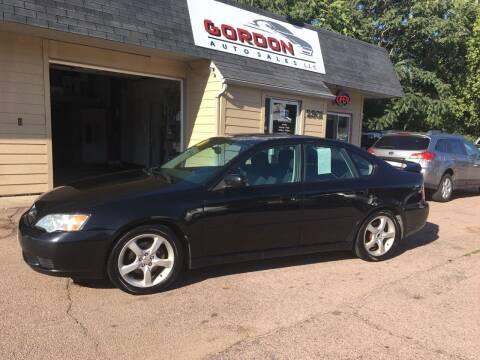 2006 Subaru Legacy for sale at Gordon Auto Sales LLC in Sioux City IA