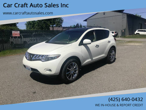 2009 Nissan Murano for sale at Car Craft Auto Sales Inc in Lynnwood WA