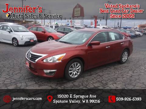 2015 Nissan Altima for sale at Jennifer's Auto Sales in Spokane Valley WA