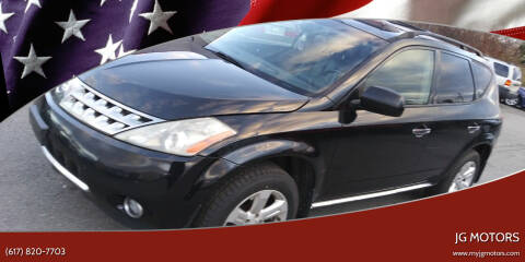 2007 Nissan Murano for sale at JG Motors in Worcester MA