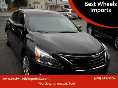 2014 Nissan Altima for sale at Best Wheels Imports in Johnston RI