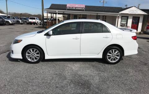 2010 Toyota Corolla for sale at TAVERN MOTORS in Laurens SC