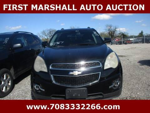 2010 Chevrolet Equinox for sale at First Marshall Auto Auction in Harvey IL