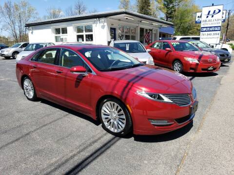 2013 Lincoln MKZ for sale at Highlands Auto Gallery in Braintree MA