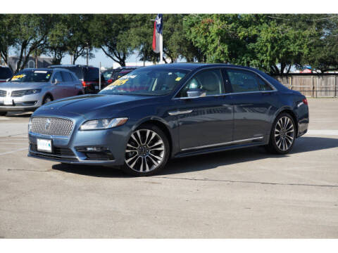 2018 Lincoln Continental for sale at BAYWAY Certified Pre-Owned in Houston TX