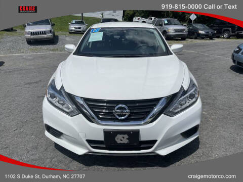 2018 Nissan Altima for sale at CRAIGE MOTOR CO in Durham NC