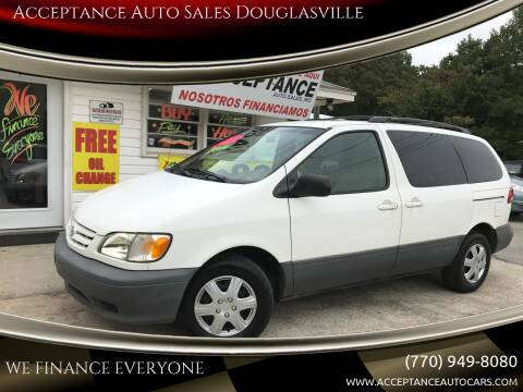2002 Toyota Sienna for sale at Acceptance Auto Sales Douglasville in Douglasville GA