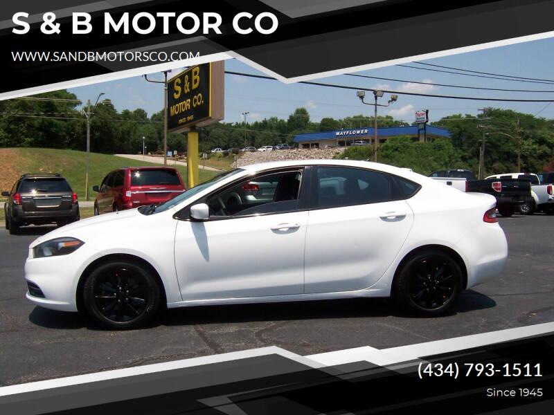 2014 Dodge Dart for sale at S & B MOTOR CO in Danville VA