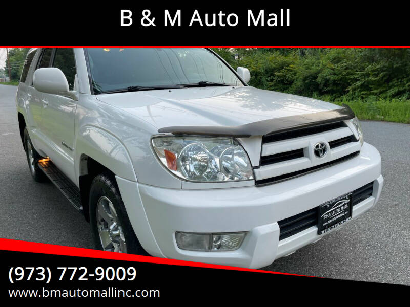 2005 Toyota 4Runner for sale at B & M Auto Mall in Clifton NJ