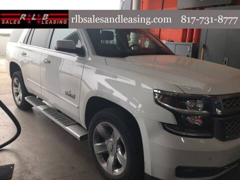 2018 Chevrolet Tahoe for sale at RLB Sales and Leasing in Fort Worth TX