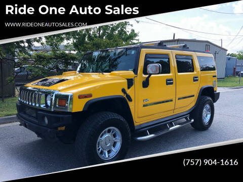 2005 HUMMER H2 for sale at Ride One Auto Sales in Norfolk VA