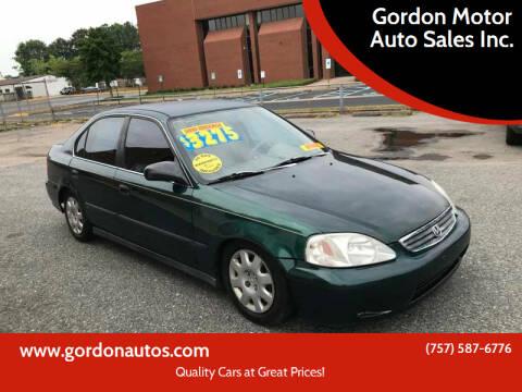 2000 Honda Civic for sale at Gordon Motor Auto Sales Inc. in Norfolk VA