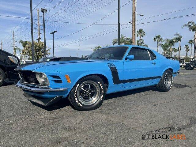 1970 Ford Mustang Boss 302 for sale at BLACK LABEL AUTO FIRM in Riverside CA