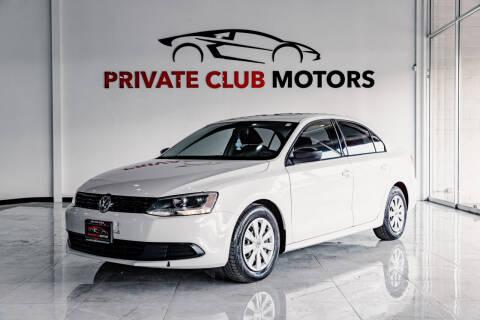 2012 Volkswagen Jetta for sale at Private Club Motors in Houston TX