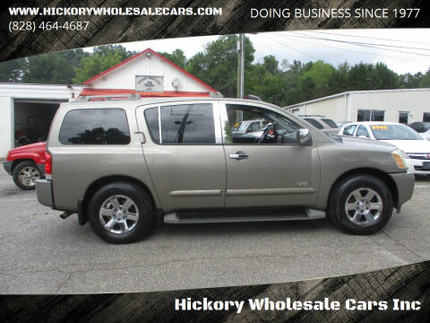 2007 Nissan Armada for sale at Hickory Wholesale Cars Inc in Newton NC