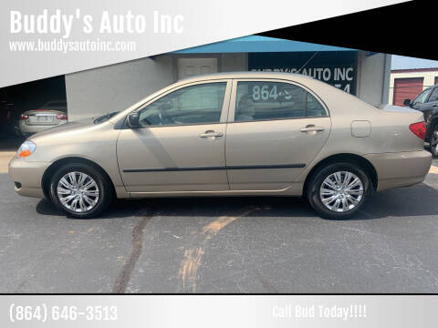 2006 Toyota Corolla for sale at Buddy's Auto Inc in Pendleton, SC