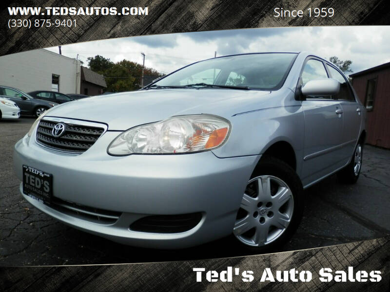 2006 Toyota Corolla for sale at Ted's Auto Sales in Louisville OH
