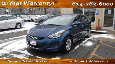 2016 Hyundai Elantra for sale at Clintonville Car Sales - AutoMart of Ohio in Columbus OH